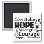 General Cancer Collage of Hope Fridge Magnet