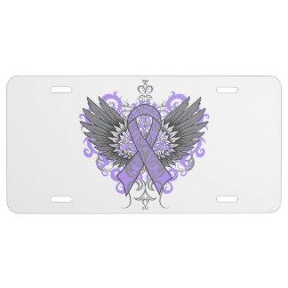 General Cancer Cool Awareness Wings Placa De Matrícula