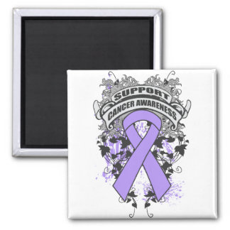 General Cancer - Cool Support Awareness Slogan 2 Inch Square Magnet