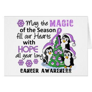 General Cancer de los pingüinos del navidad Tarjetón