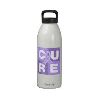 General Cancer Distressed Cube de la CURACIÓN Botella De Beber