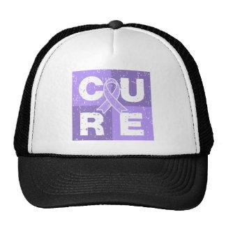 General Cancer Distressed Cube de la CURACIÓN Gorros Bordados