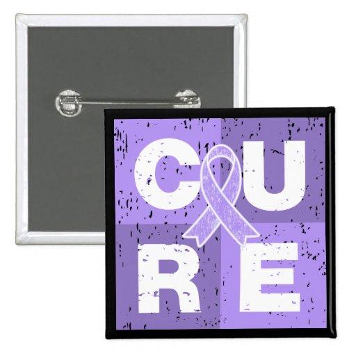 General Cancer Distressed Cube de la CURACIÓN Pin