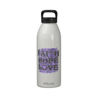 General Cancer Faith Hope Love Botella De Beber