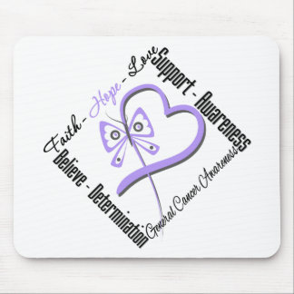 General Cancer Faith Hope Love Butterfly Mouse Pad