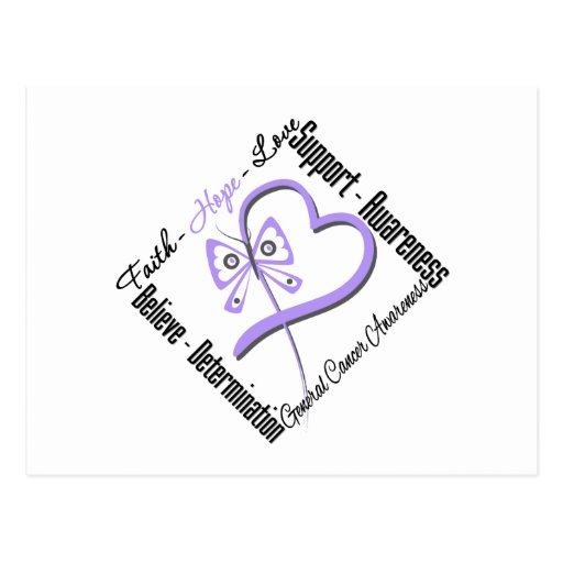 General Cancer Faith Hope Love Butterfly Post Cards