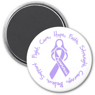 General Cancer Fight Cure Hope Logo 3 Inch Round Magnet
