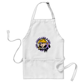 General Cancer Fight Like A Girl Attitude Adult Apron
