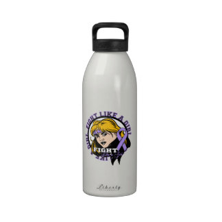 General Cancer Fight Like A Girl Attitude Drinking Bottle