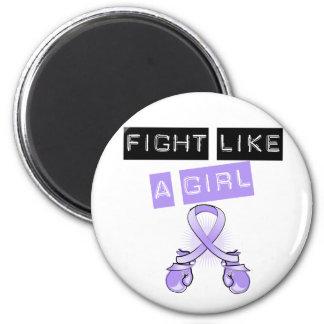 General Cancer Fight Like A Girl Fridge Magnets