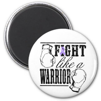 General Cancer Fight Like a Warrior 2 Inch Round Magnet