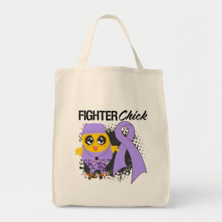 General Cancer Fighter Chick Grunge Tote Bags