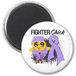 General Cancer Fighter Chick Grunge Fridge Magnets