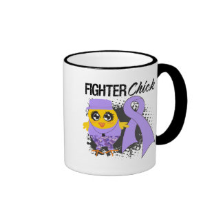 General Cancer Fighter Chick Grunge Coffee Mugs