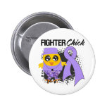 General Cancer Fighter Chick Grunge Pins