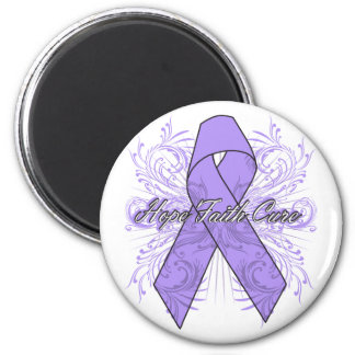 General Cancer Flourish Hope Faith Cure 2 Inch Round Magnet