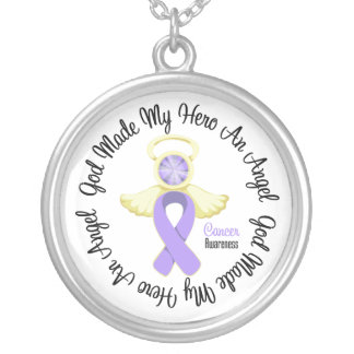General Cancer God Made My Hero An Angel Round Pendant Necklace