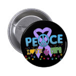 General Cancer Groovy Peace Love Cure Buttons