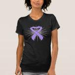 General Cancer Heart Ribbon Tee Shirts