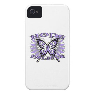 General Cancer Hope Believe Butterfly Blackberry Bold Covers