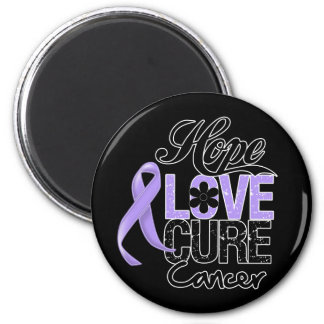 General Cancer Hope Love Cure 2 Inch Round Magnet