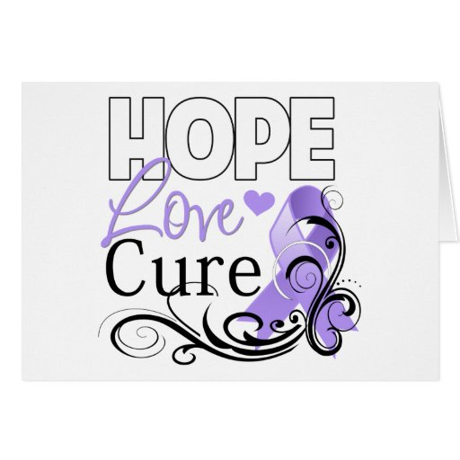 General Cancer Hope Love Cure Card
