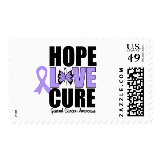 General Cancer Hope Love Cure Postage