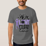 General Cancer Hope Love Cure T Shirts