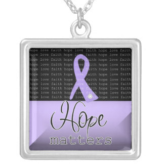 General Cancer Hope Matters Silver Plated Necklace