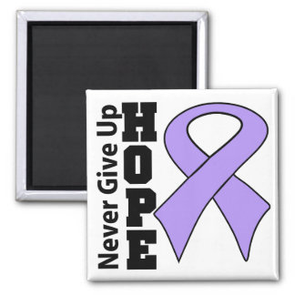 General Cancer Hope Never Give Up 2 Inch Square Magnet