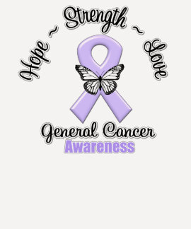General Cancer Hope Strength Love Tees