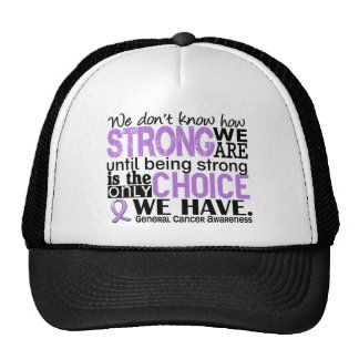 General Cancer How Strong We Are Mesh Hats