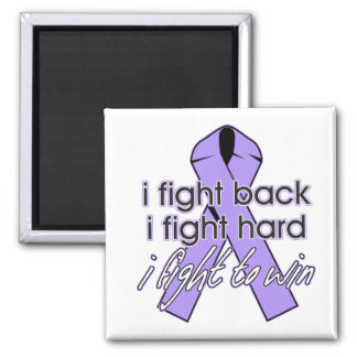 General Cancer I Fight Back 2 Inch Square Magnet