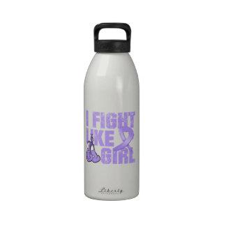 General Cancer I Fight Like A Girl (Grunge) Drinking Bottle
