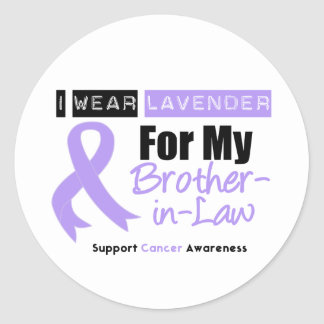 General Cancer I Wear Lavender For My Brother-in-L Classic Round Sticker