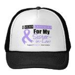 General Cancer I Wear Lavender For My Sister-in-La Trucker Hat