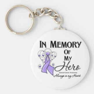 General Cancer In Memory of My Hero Keychain