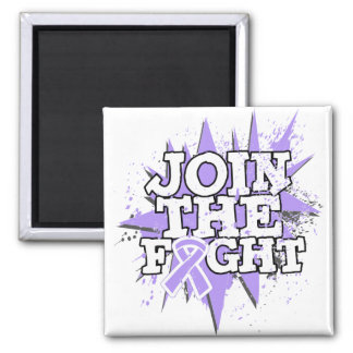 General Cancer Join The Fight 2 Inch Square Magnet