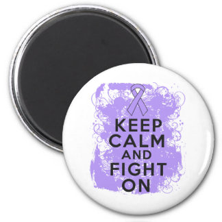 General Cancer Keep Calm and Fight On 2 Inch Round Magnet