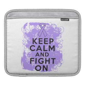General Cancer Keep Calm and Fight On iPad Sleeve