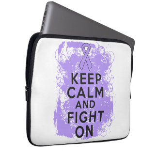 General Cancer Keep Calm and Fight On Laptop Computer Sleeve
