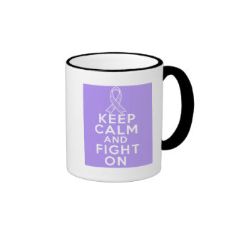 General Cancer Keep Calm and Fight On Mug