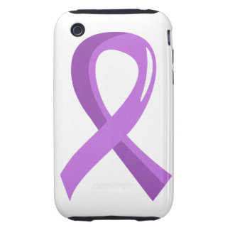General Cancer Lavender Ribbon 3 Tough iPhone 3 Cover