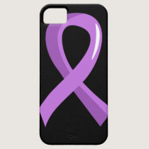 General Cancer Lavender Ribbon 3 iPhone SE/5/5s Case