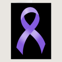 General Cancer - Lavender Ribbon Card