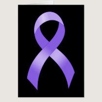 General Cancer - Lavender Ribbon Card