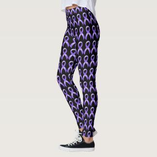 General Cancer - Lavender Ribbon Leggings