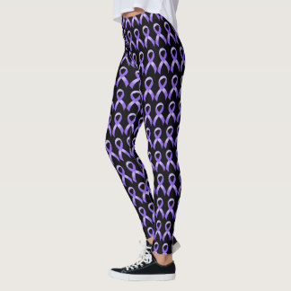 General Cancer - Lavender Ribbon Leggings