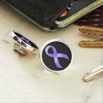 General Cancer - Lavender Ribbon Pin