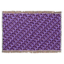 General Cancer - Lavender Ribbon Throw